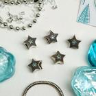 """Талисман """"Звезда"""", цвет голубой в серебре"""