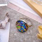 Кольцо Candy совушки, цветной, безразмерное