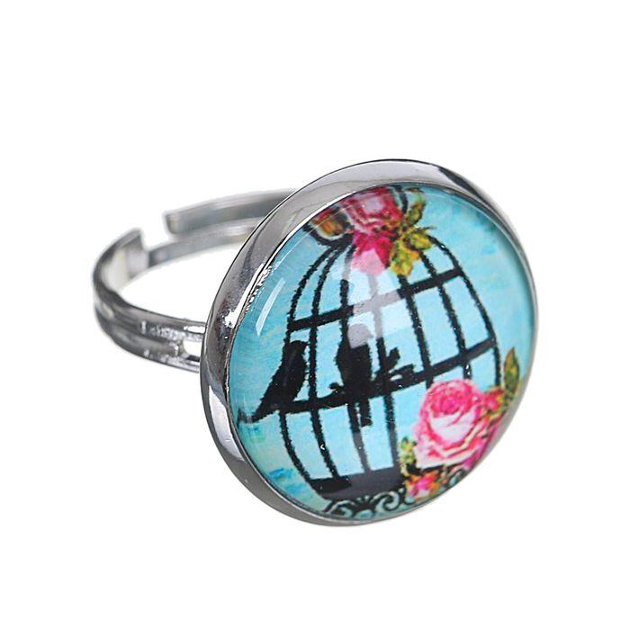 Кольцо Candy птицы, цветной, безразмерное