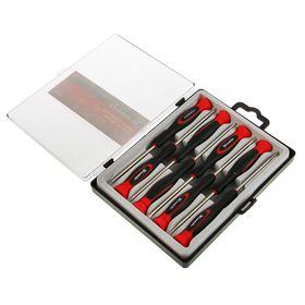 Набор отверток MATRIX, для точных работ, T5-6, PH000-00-0,SL2-2.5-3, 8 шт. и пласт. кейс