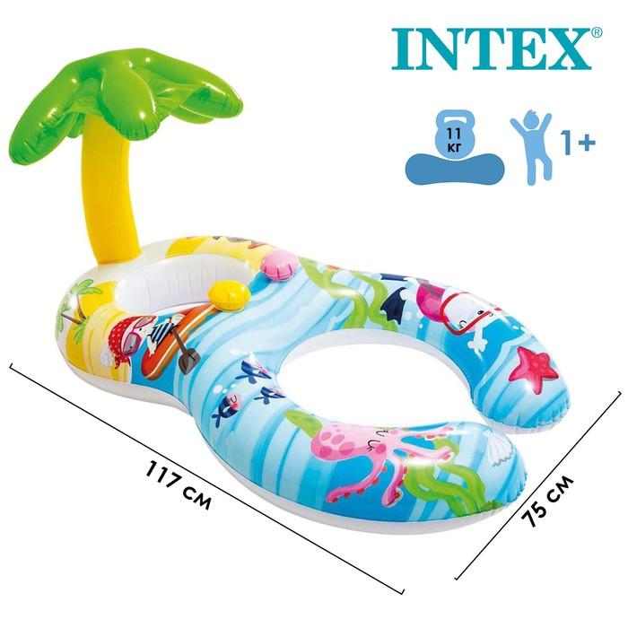 Круг-ходунки для плавания «Пальма», с сиденьем и навесом, 117 х 75 см, от 1-2 лет, 56590NP INTEX