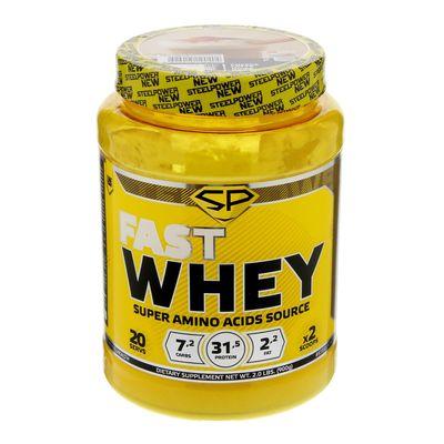 Протеин Steel Power Nutrition Fast Whey Protein, кофе латте, 900 г