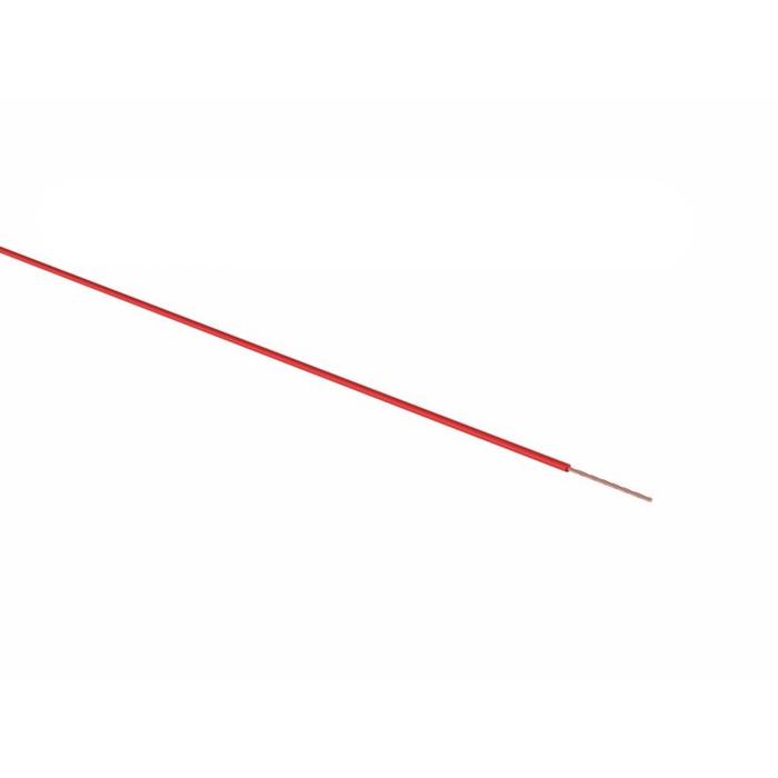 Провод REXANT ПГВА, 1 х 0,75мм², 100 м, красный, 01-6504