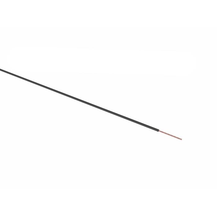 Провод REXANT ПГВА, 1 х 0,75мм², 100 м, черный, 01-6506
