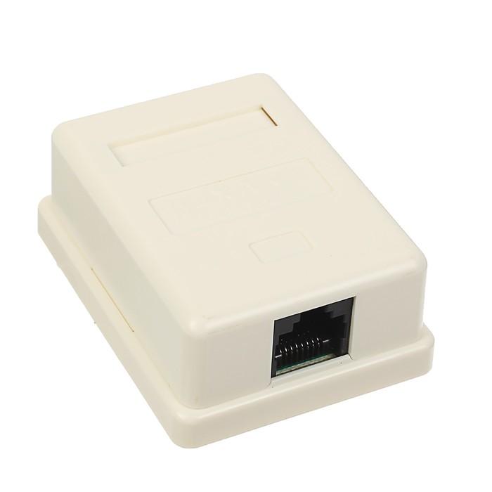 Компьютерная розетка REXANT, 1 RJ-45, CAT5e, 03-0121
