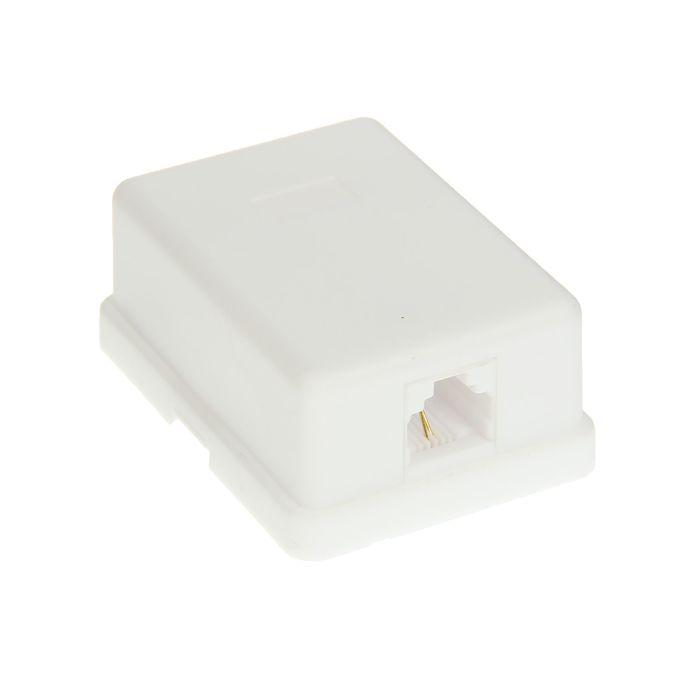 Телефонная розетка PROconnect, 1 6P-2C, 03-0001-4