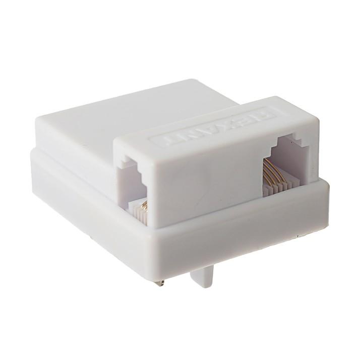 Универсальная телефонная вилка REXANT, белая, 03-0012