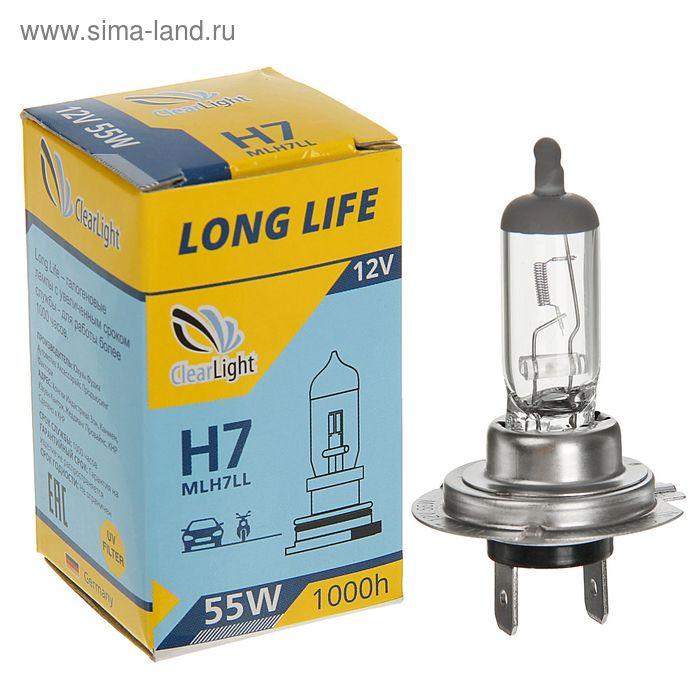 Галогенная лампа Clearlight LongLife, H7, 12 В, 55 Вт