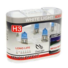 Галогенная лампа Clearlight WhiteLight, H3, 12 В, 55 Вт, набор 2 шт Ош