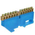 """Шина """"N"""" нулевая TDM, 6x9 мм, 12 групп, с изолятором, стойка бол., SQ0801-0029"""