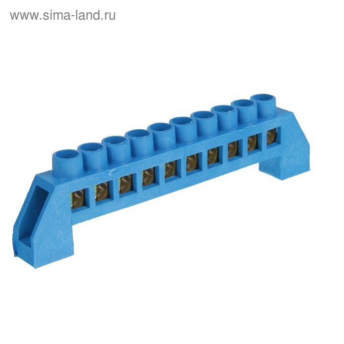 """Шина """"N"""" нулевая TDM, 6х9 мм, 10 групп, в изоляторе, SQ0801-0019"""