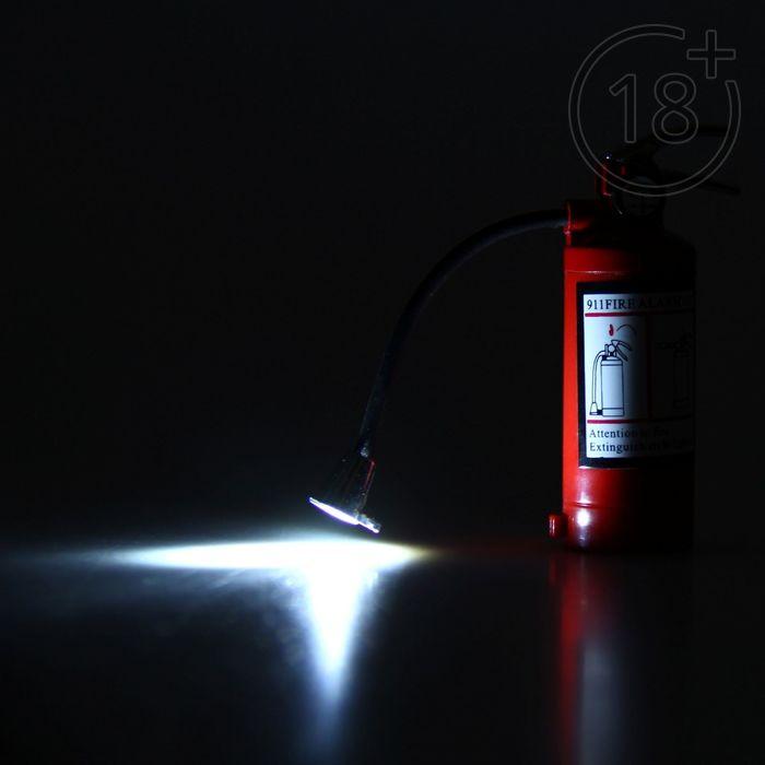 Зажигалка-фонарик «Огнетушитель», пьезо, газ