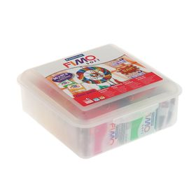 A set of plastics - polymer clay FIMO soft, 26 colors of 57 g, 10 stacks, cord, in a plastic case.