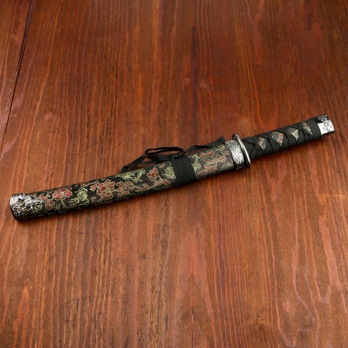 Сувенирное оружие «Катана», чёрные ножны с узорами в виде дракона, 47 см