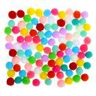 """Набор текстильных деталей для декора """"Бомбошки"""" 100 шт набор, размер 1 шт 0,6 см, цвет МИКС"""