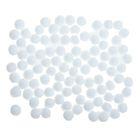 """Набор текстильных деталей для декора""""Бомбошки""""100 шт набор, размер 1 шт 0,6 см, цвет белый"""