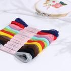 Набор ниток мулине №3, 12шт, 8±1м, разноцветный