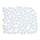 """Набор текстильных деталей для декора """"Бомбошки"""" 100 шт набор, размер 1 шт 1,2 см, цв. белый"""