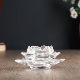 """Подсвечник стекло """"Лотос"""" 12х12х5,5 см"""