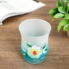 """Glass candle holder """"Tenderness"""" 11х9х9 cm"""