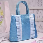 Children's bag with zipper, 1 division, blue color
