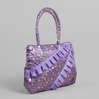 Children's bag with zipper, 1 division, color lilac