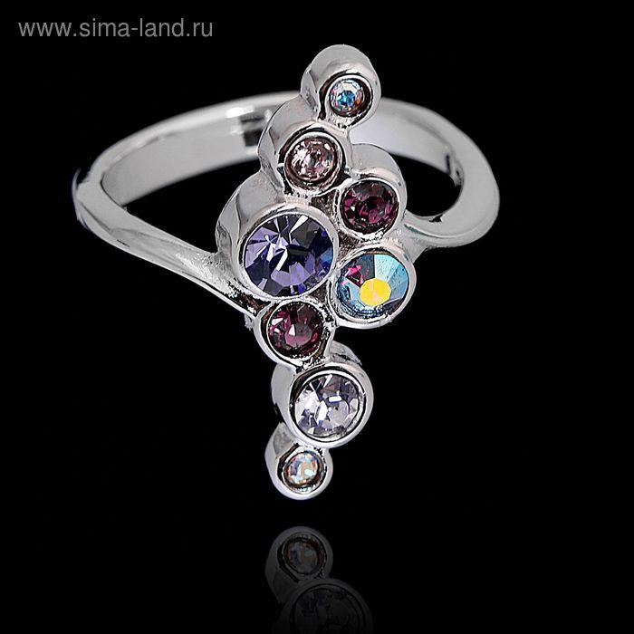 """Кольцо """"Суфле"""", размер 18, цвет фиолетовый в серебре"""