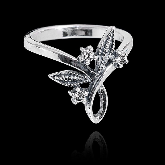 """Кольцо """"Флис"""", размер 18, цвет белый в чернёном серебре"""