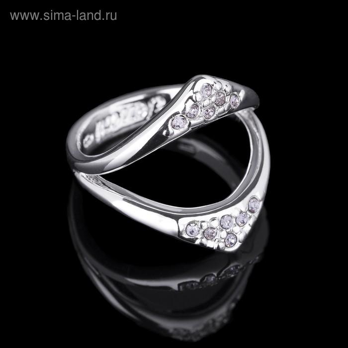 """Кольцо """"Левего"""", размер 17, цвет белый в серебре"""