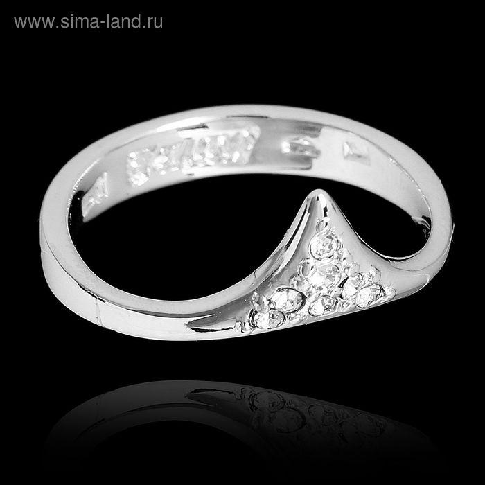"""Кольцо """"Хангин"""", размер 21, цвет белый в серебре"""