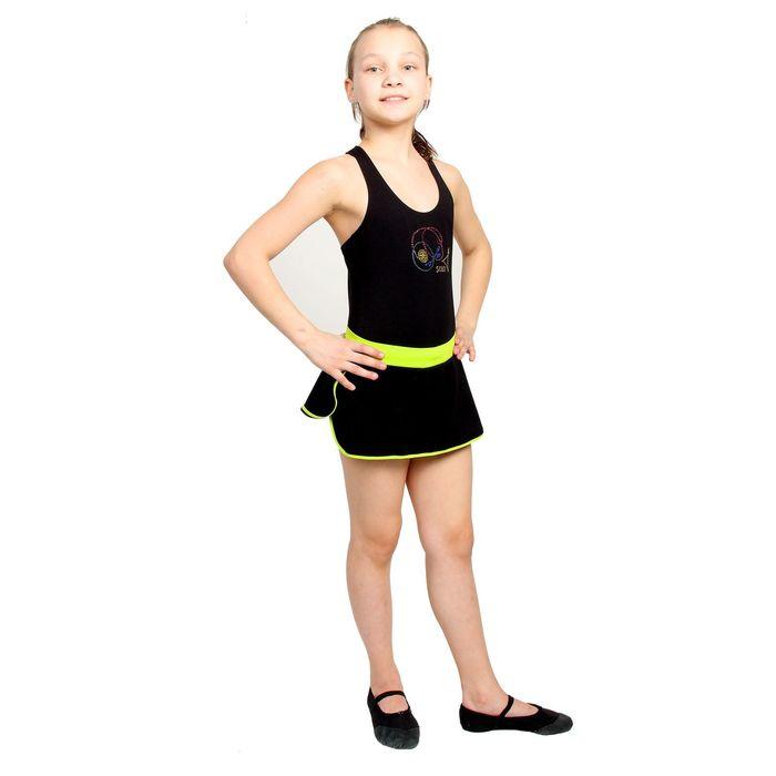 Майка гимнастическая, размер 38, цвет чёрный