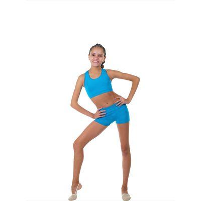 Топ-лиф гимнастический, размер 38, цвет бирюзовый