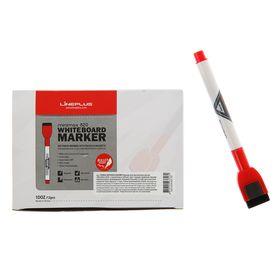 Маркер для доски 2.5 мм MiniMax-820 красный магнит и губка
