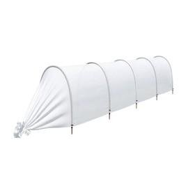 Парник прошитый, длина 4,5 м, 5 дуг из пластика, дуга L = 2 м, d = 20 мм, спанбонд 45 г/м², Reifenhäuser, «Агроном»