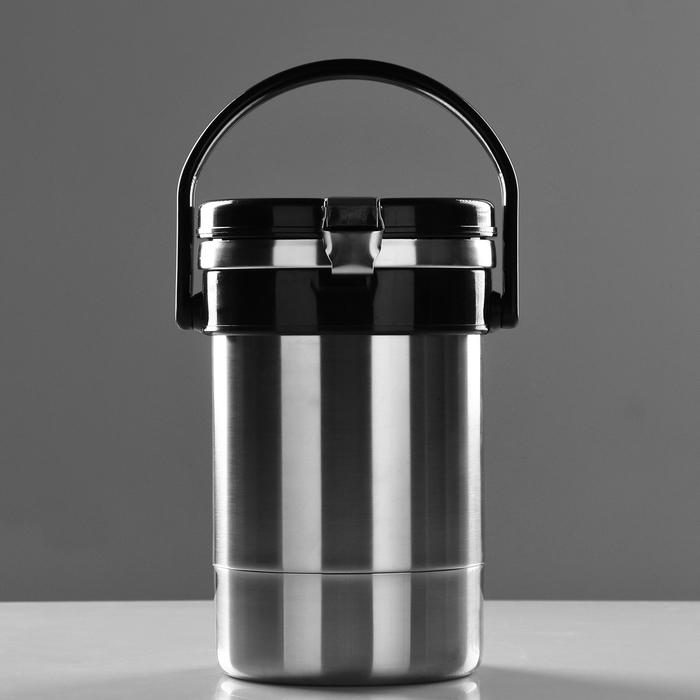 """Термос для еды """"Экспресс"""" с широким горлом, 1.35 л (3 контейнера × 0.45 л), 74 °С, 6 ч"""