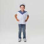 """Детский карнавальный костюм """"Моряк"""", жилет, бескозырка, 4-6 лет, рост 110-122 см"""