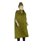 """Детский карнавальный костюм """"Солдат"""", плащ-палатка, пилотка , 4-7 лет, рост 110-128 см"""