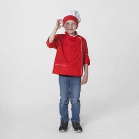 """Детский карнавальный костюм """"Шеф-повар"""", колпак, куртка, 4-6 лет, рост 110-122 см"""