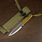 Нож нескладной в оплётке, лезвие drop-point, 18,5 см