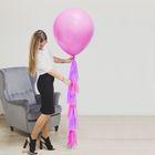 """Воздушный шар """"1 годик"""", розовый, с тассел лентой, 24"""" - фото 274103177"""