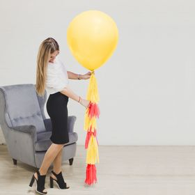 "Balloon with tassel-ribbon ""Magical world"", 24"""