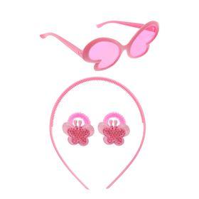 Набор для девочки 'Бабочка', 4 предмета: очки, ободок, 2 резинки Ош