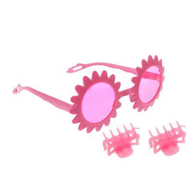 """Набор для девочки """"Солнышко"""", 3 предмета: очки, 2 зажима"""
