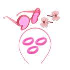 """Набор для девочки """"Красотка"""", 7 предметов: очки, ободок, 3 резинки, 2 зажима"""