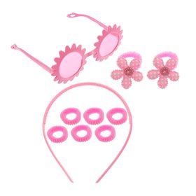 Набор для девочки 'Цветок', 10 предметов: очки, ободок, 8 резинок Ош
