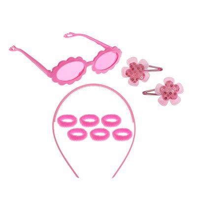 """Набор для девочки """"Цветочек"""", 10 предметов: очки, ободок, 6 резинок, 2 заколки"""