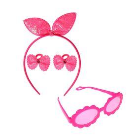 Набор для девочки 'Очаровашка', 4 предмета: очки, ободок, 2 резинки Ош