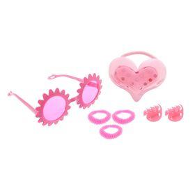 Набор для девочки 'Милашка', 7 предметов: очки, 4 резинки, 2 крабика Ош