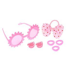 Набор для девочки 'Солнышко', 7 предметов: очки, 4 резинки, 2 крабика Ош