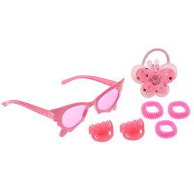 Набор для девочки 'Красотка', 7 предметов: очки, 4 резинки, 2 крабика Ош